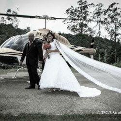 Casamento Cinema - Helicóptero