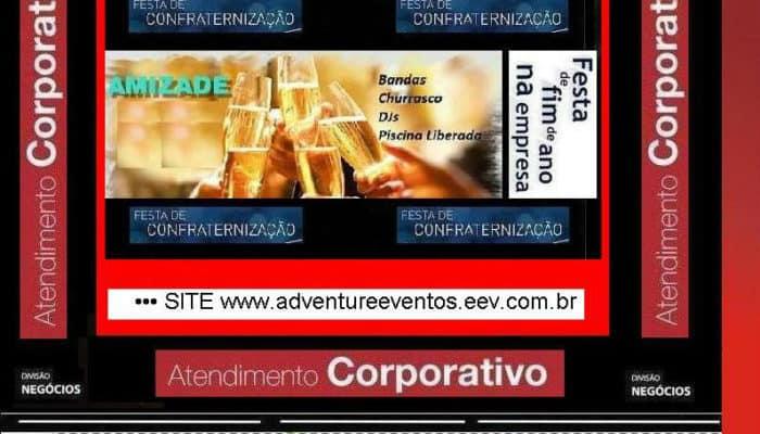 ADVENTURE - FESTA CONFRATERNIZAÇÃO EMPRESA
