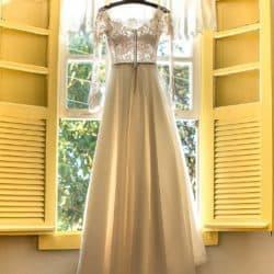 Vestido de Noiva Off White - Ateliê Bem Casada