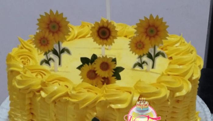 Bolo aniversário tema girassol